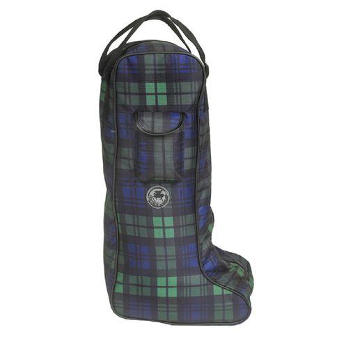 Centaur Plaid Lined Padded Tall Boot Bag - Blackwatch Plaid
