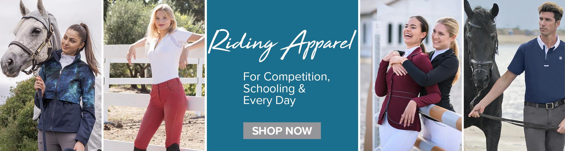 Riding apparel on Equishipper
